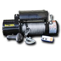 DV8 Offroad Black 12000lb Winch with Steel cable and Wireless Remote - WB12SC
