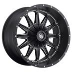 LRG103 Rims - Black Milled - LRG Rims - Aluminum Wheels - Wheels - by Trans American Wholesale