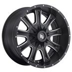LRG105 Rims - Black Milled - LRG Rims - Aluminum Wheels - Wheels - by Trans American Wholesale-WS4