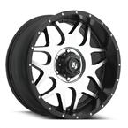 LRG104 Rims - Black Milled - LRG Rims - Aluminum Wheels - Wheels - by Trans American Wholesale